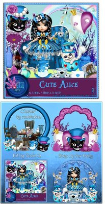 QTSQ Cute Alice and Clusters by Raubkatze