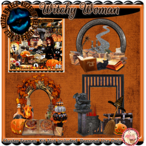 Witch Woman Cluster Frames