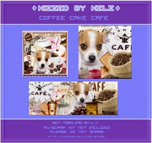 Coffee Cake Cafe Timeline Set