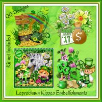 Leprechaun Kisses Embellishments